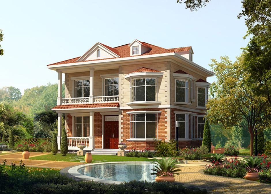 设计 二层别墅图纸 农村自建房设计图开间12米 二层